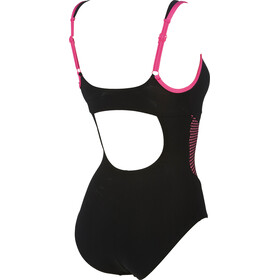 arena Sophia Strap Back One Piece C-Cup Swimsuit Women black-fluo pink